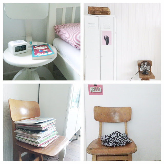 alter Schulstuhl, decorating with vintage school chairs