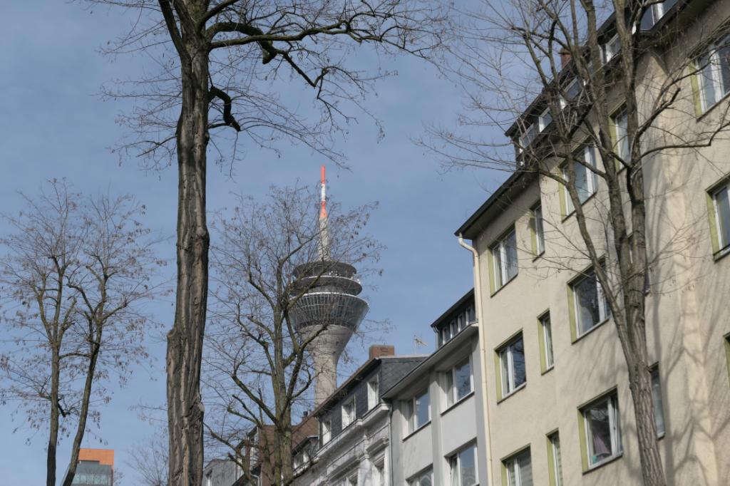 Rheinturm Düsseldorf from Unterbilk