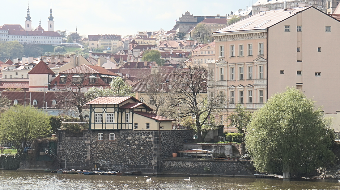 Prague a lovely view from the river