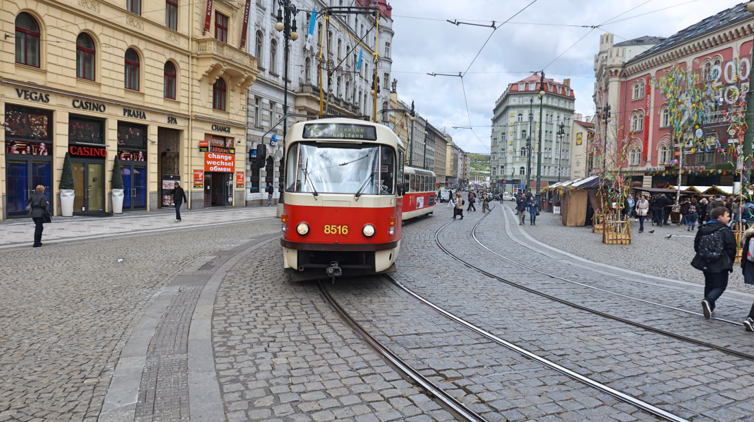 Prague public transport old tram
