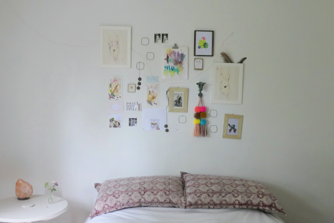 Artwall decorating white walls